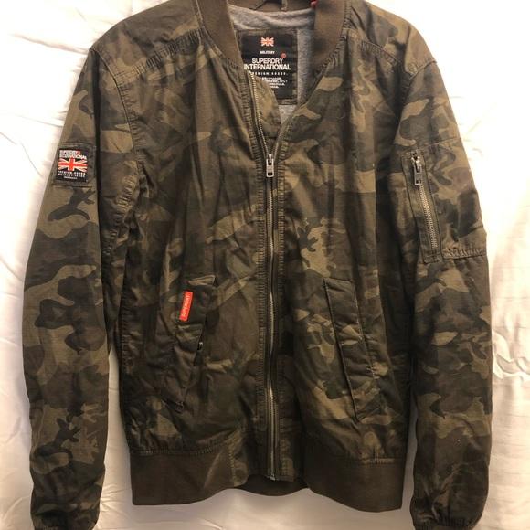 Superdry Men/'s Rookie Duty Fleece-Lined Bomber Jacket Small, Camo